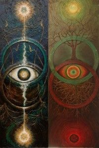 Left: The Eye in the Well, the formless fire, and Right: The Star within the Stone. By Martin Bridge