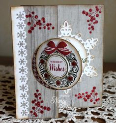 Merry and Bright stamp set and Swing Card cut with Artiste Cricut cartridge.