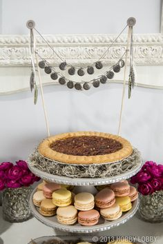 Dress up your dessert table with jewelry accents.