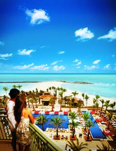 The Cain pool view from the balcony. Breathtaking! Atlantis - Bahamas