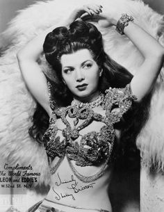 Burlesque dancer Sherry Britton c. 1940s