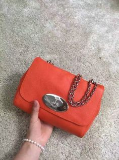 Iconic Mulberry Lily Bag in Mandarin Soft Grain Leather 22f73047cd628