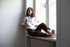 Brown corduroy and embroidered shirt | Make it last