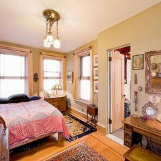 Eclectic, vintage bedroom