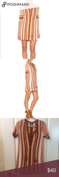 """Free People Lollipop Sweater Dress Free People """"Lollipop Sweater Dress"""" • Size XS but stretches a lot. Barely worn, no sign of wear. 100% cotton and machine washable. Free People Dresses"""