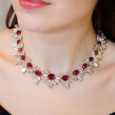 @faideeofficial Le Grand Phoenix necklace with unheated Burmese rubies all pigeon blood colour and top quality diamonds.