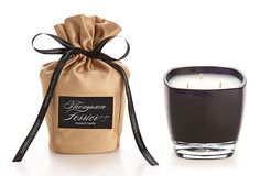 One Kings Lane - Scents of Spring - Vanilla Noir Glass Candle, 13 oz.