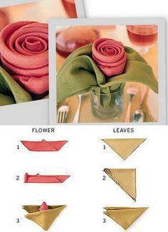 44 Ideas Origami Diy Decoration Napkin Folding For 2019 Serviettes Roses, Tablescapes, Paper Flowers, Tea Party, Diy And Crafts, Projects To Try, Table Settings, Creations, Valentines