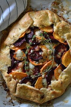 Raise your hand if you love pie. So why shouldn't you eat it for dinner? Here, 11 savory pies, tarts and galettes that come together in under an hour. RELATED: 7 Vegetarian Recipes That Aren't Salad Savory Pastry, Savory Tart, Savoury Baking, Savoury Pies, Stir Fry Recipes, Tart Recipes, Cooking Recipes, Vegetable Tart, Vegetable Dishes