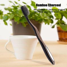 1pcs Super Soft Bamboo Charcoa Non-Antibacterial Dental Oral Clean Care Health Charcoal Toothbrush   #rings #jackets #accessories #women #clothing #fashion #necklace #love #shoes