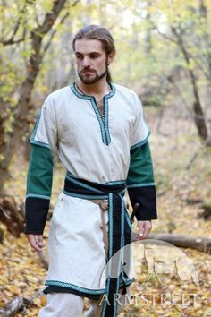 Medieval Long Men's Tunic with Overcoat