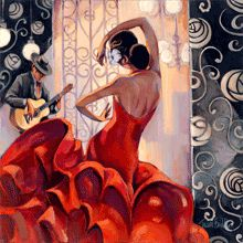 :: Trish Biddle Fine Art :: Flamenco Dancer :: Glamorous Women in Fabulous Places ::