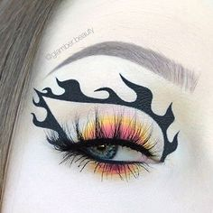Edgy Makeup, Makeup Eye Looks, Eye Makeup Art, Colorful Eye Makeup, Zombie Makeup, Crazy Makeup, Eye Art, Eyeshadow Makeup, Halloween Makeup