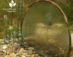 Circular Water Wall, using a recycled tabletop