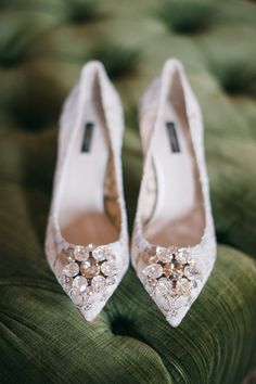 The bride's dancing shoes.
