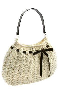 crochet hobo bag pattern - love this!  You could recycle the handle from an old bag too!!