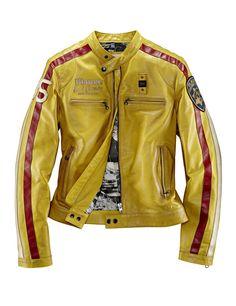 Blauer USA Lederjacke in Gelb für 1.035,00 €