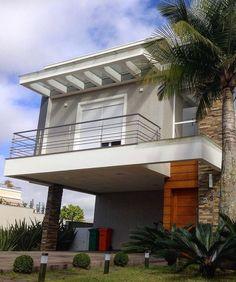 THAIS GREI Balcony Railing Design, Facade House, Pergola, Outdoor Structures, Architecture, Outdoor Decor, Home Decor, Ariel, Houses