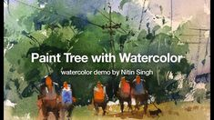 How to paint tree with watercolor