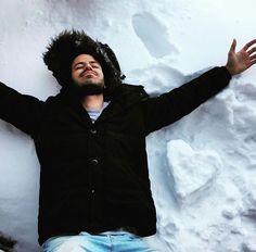 Foto nas minhas ferias do #Canada ideia legal de tirar foto na #neve