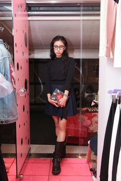 Street Style of Tokyo: Culumi Nakada with her Olympia Le-Tan Book Clutch | More photo at Fashionsnap.com