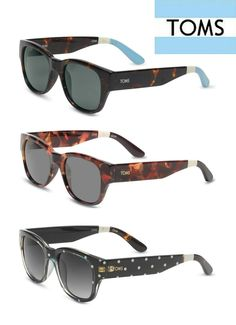 Socially-conscious shades! TOMS sunglasses, $22.50, are the perfect present.