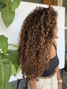 Ombre Curly Hair, Brown Curly Hair, Colored Curly Hair, Dyed Hair, Curly Balayage Hair, Colored Natural Hair, 3b Curly Hair, Blonde Highlights Curly Hair, Dark Hair With Highlights