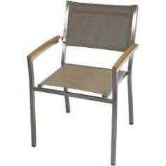 Reduced high-back garden chairs-Reduzierte Hochlehner-Gartenstühle Zebra Pontiac stacking armchair Batyline Espresso ZebraZebra -