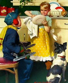 Vintage Illustration by Harry Anderson