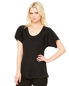 Bella + Canvas 8801 - Ladies' Flowy Raglan T-Shirt - Wholesale and Bulk Pricing Available