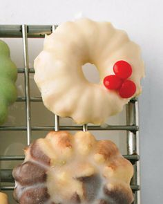 White-Chocolate-Glazed Cookies -Martha Stewart