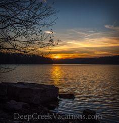 Winter Sunset at Deep Creek Lake