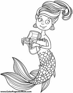 mermaid coloring page 29