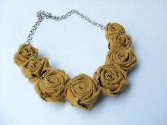 Fabric necklace!