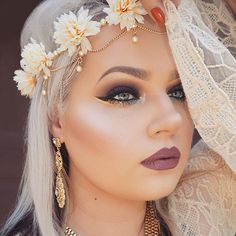 The beautiful @makeupwithtammy wearing one of our flower crown head chains! We are shipping daily darlings! Shop today at WWW.SHOPBULLHORN.COM (link in profile)!