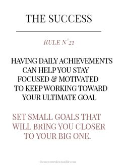 Set small goals Habit Formation, Vet Med, N21, Stay Focused, Believe In You, Bring It On, Success, Goals, Writing