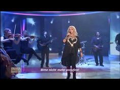 Bonnie Tyler sung Believe in Me at the German tv show ''Inka Bause Live'' on april 19th 2013.  It is funny to see her singing in playback as she is not used to it ! Bonnie always sings in liver at her concerts ! #bonnietylervideo #gaynorsullivan #gaynorhopkins #music #rock #thequeenbonnietyler #therockingqueen #rockingqueen #2010s #believeime #bonnietyler #2013 #tv #germany