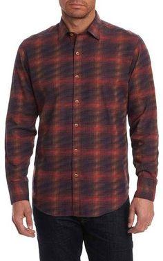 Robert Graham Plaid Classic Fit Flannel Sport Shirt Mens Big And Tall Shirts, Robert Graham, Cut Shirts, Collar And Cuff, Sports Shirts, Flannel, Men Casual, Plaid, Classic