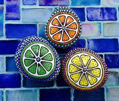 https://flic.kr/p/vGpr6C   image   My Citrus Stone Series, lime, orange and lemon. Hand painted rocks.