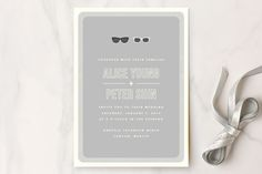 Shades Wedding Invitations by Olive and Violet at minted.com