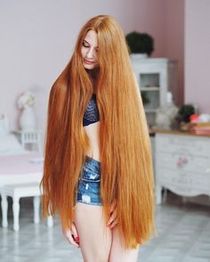 Beautiful long red hair