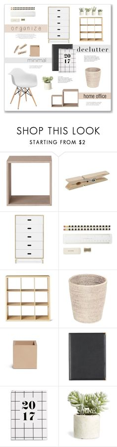 """""""Declutter! Home Office"""" by catchsomeraes ❤ liked on Polyvore featuring interior, interiors, interior design, home, home decor, interior decorating, Modway, Muuto, Normann Copenhagen and Kate Spade"""