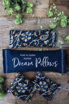 Dream Pillows: Aromatherapy for the Restful Sleep You Need How to Make Herbal Dream Pillows. Pillows stuffed with dried herbs to promote sleep.How to Make Herbal Dream Pillows. Pillows stuffed with dried herbs to promote sleep. Homemade Gifts, Diy Gifts, Sewing Crafts, Sewing Projects, Diy Projects, Diy Blog, Mason Jar Crafts, Drying Herbs, Diy Pillows