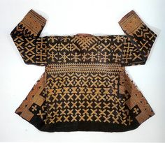 Kalagan abaca fiber jacket ,cotton embroidery , Bilaan people, Mindanao Philippines.  The Zaira and Marcel Mis Collection