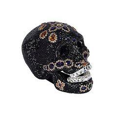 Swarovski Decoration Black Maharajah Skull