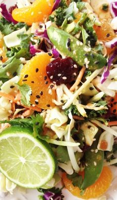 Asian Salad- cabbage, mandarin oranges, peanuts, grilled chicken