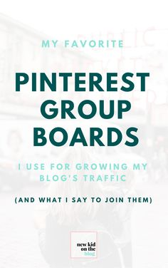 Below I've compiled a list of some of my favorite group boards that fall into the niche of General – Business – blogging.