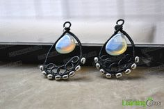 Handmade Jewelry Ideas-Wire Wrapped Chandelier Earrings - Pandahall.com