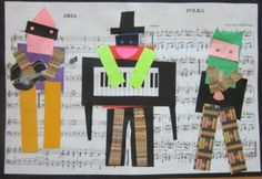 Picasso collages - three musicians