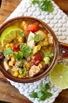 Hearty Chicken Tortilla Soup.  This sounds incredible and perfect for cold fall nights. Warmth from within. :)